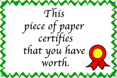 Award Certificate (not real)