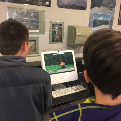 Students using a 2004 iMac in 2017!